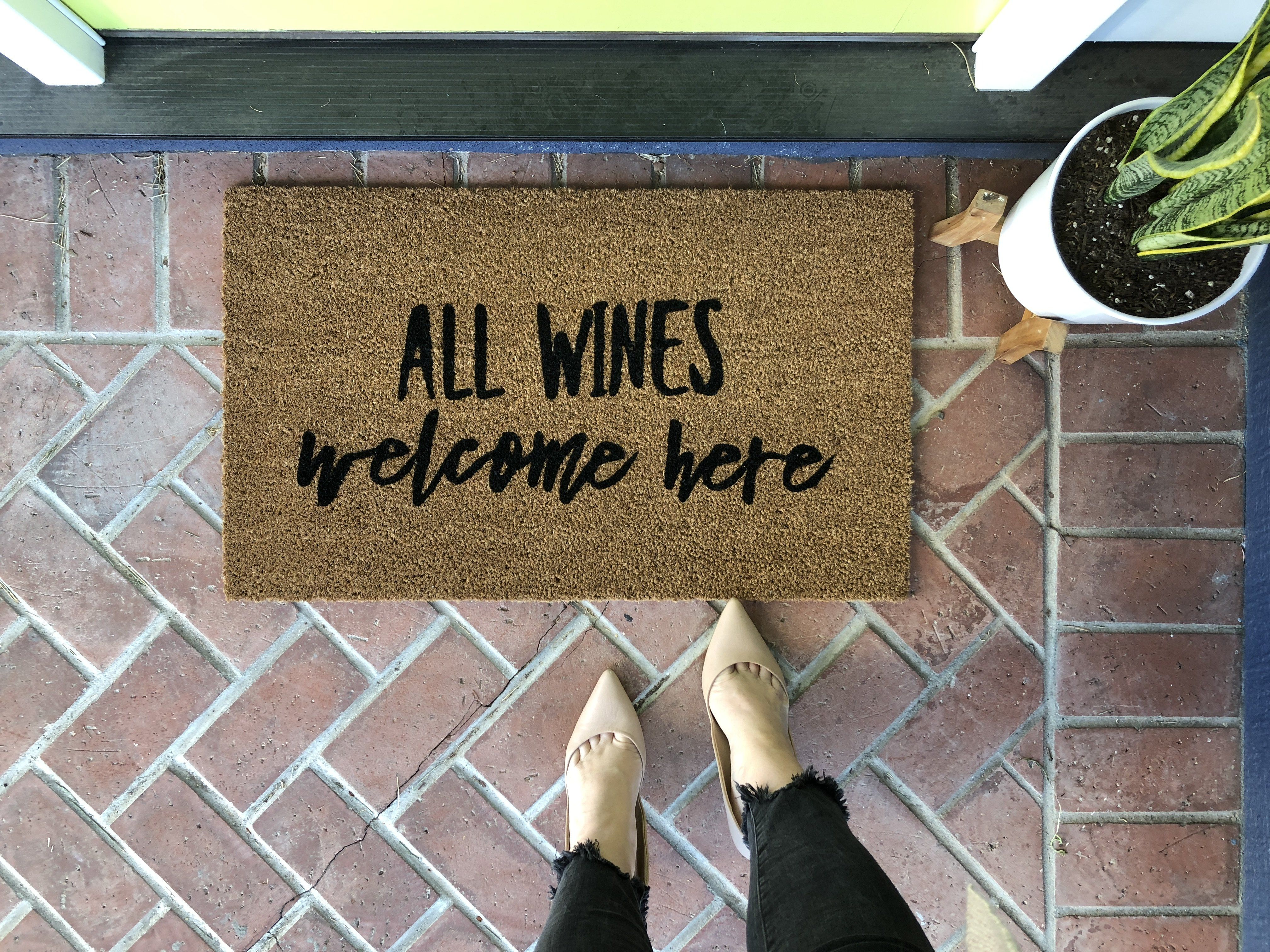 Funny Wine Custom Welcome Mat Wine Signs Welcome Mats Funny
