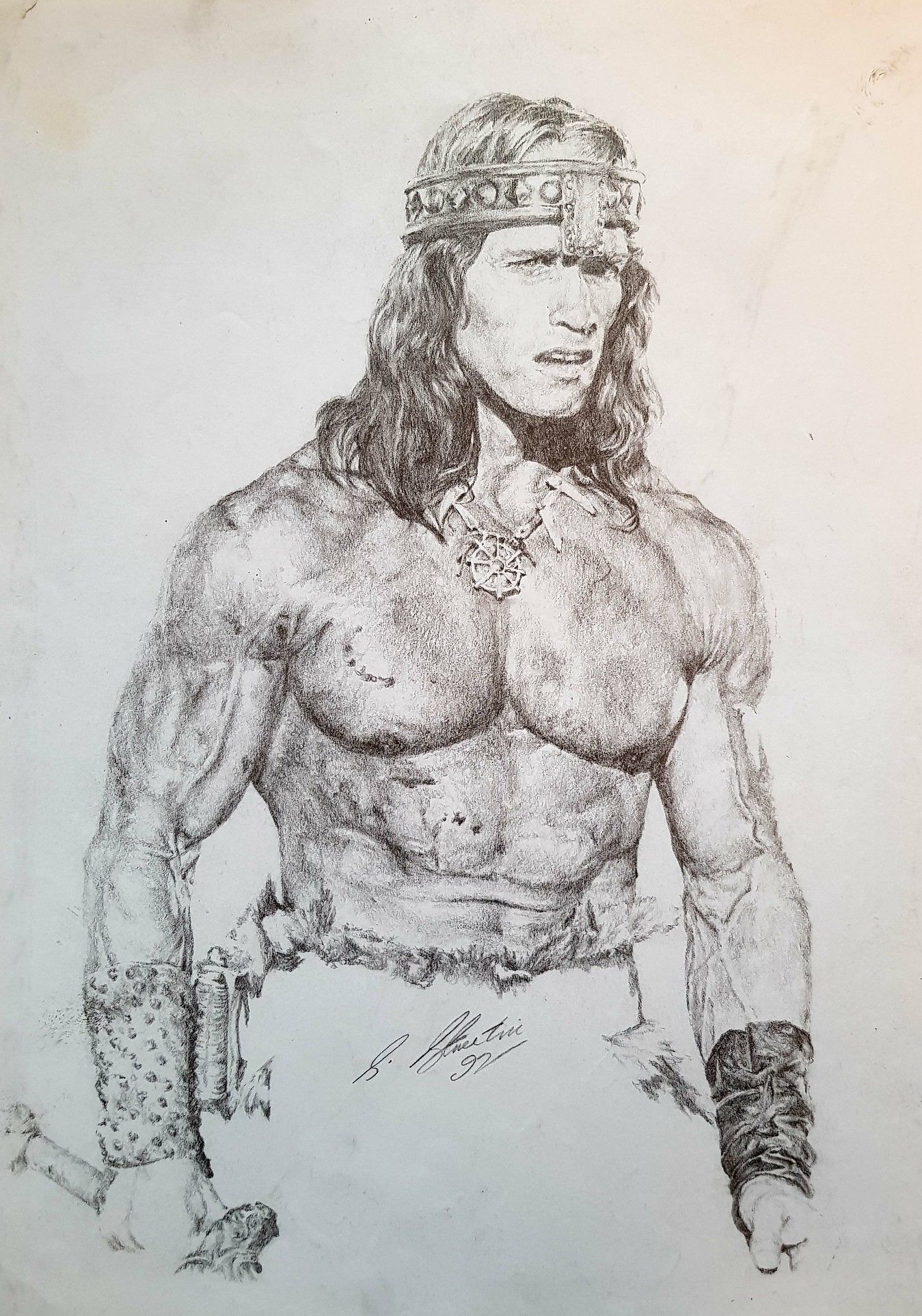 Arnold Schwarzenegger In Pencil By Steven Streetin Celebrity Art Drawings Movie Character Sketch Pencil Drawings