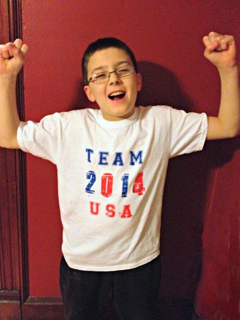 How to make a Team USA Olympic Shirt