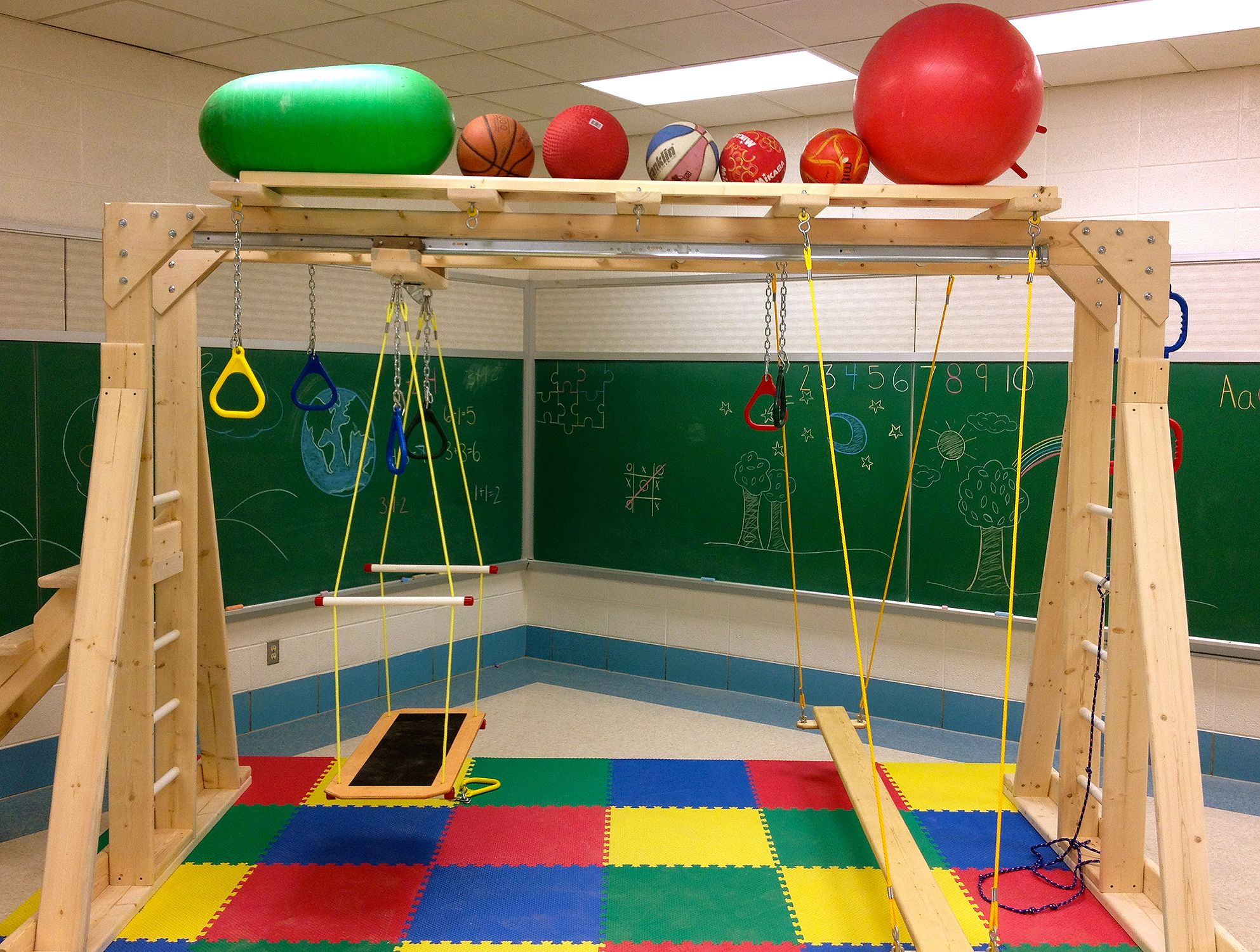 classchamp with platform swing u0026 balance beam1 anaokul