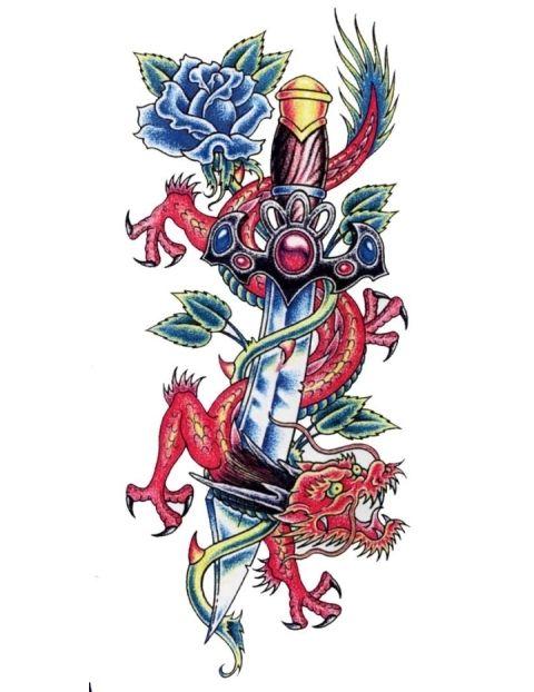 dragon n dagger tattoo design fresh 2017 tattoos ideas rose with dragon tattoo designs. Black Bedroom Furniture Sets. Home Design Ideas