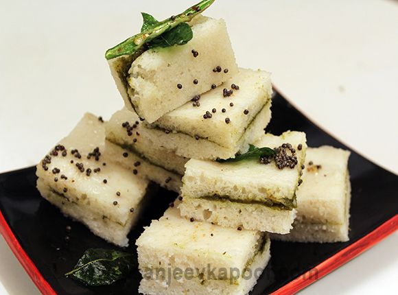 White dhokla sandwich white coloured dhokla sandwiched with how to make white dhokla sandwich recipe by masterchef sanjeev kapoor forumfinder Gallery