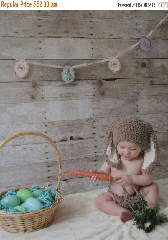 SALE 6 to 12m Brown Baby Bunny Hat Crochet Diaper Cover Set Easter Baby Beanie Crochet Baby Hat Bunny Ears in Brown Cream Bunny Photo Prop #baby #children #kids #kidsfashion #girlhat #boyhat #babyboy #babygirl #easter #bunny #bunnyhat #babyhat #hat #babamoon #etsy #photoprop #bunnycostume #eastercostume #etsygifts #brown #babies #diapercoverset #costumes