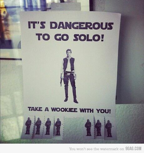 Star Wars | It's dangerous to go Solo! Take a Wookie with you.
