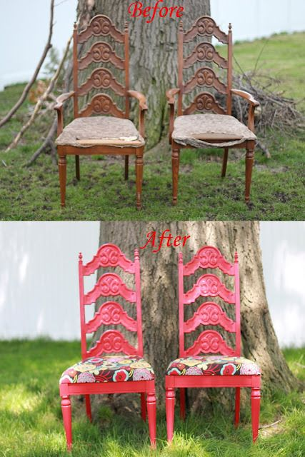before and after chairs - wow!