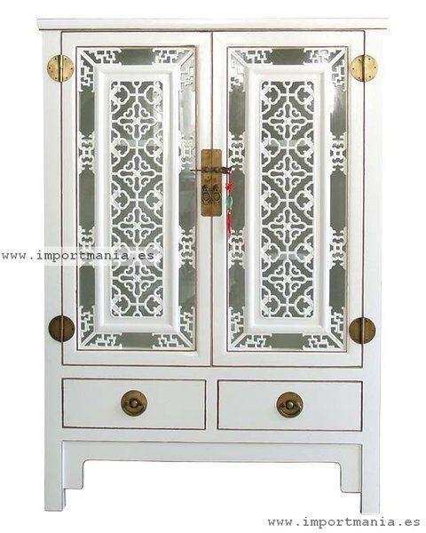 armario oriental blanco barcelona-muebles chinos - muebles
