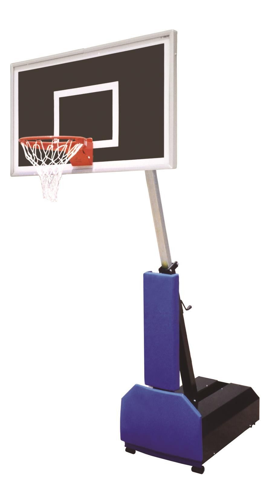 First Team Fury Eclipse Adjustable Portable Basketball Hoop 60 inch Smoked Glass from NJ Swingsets