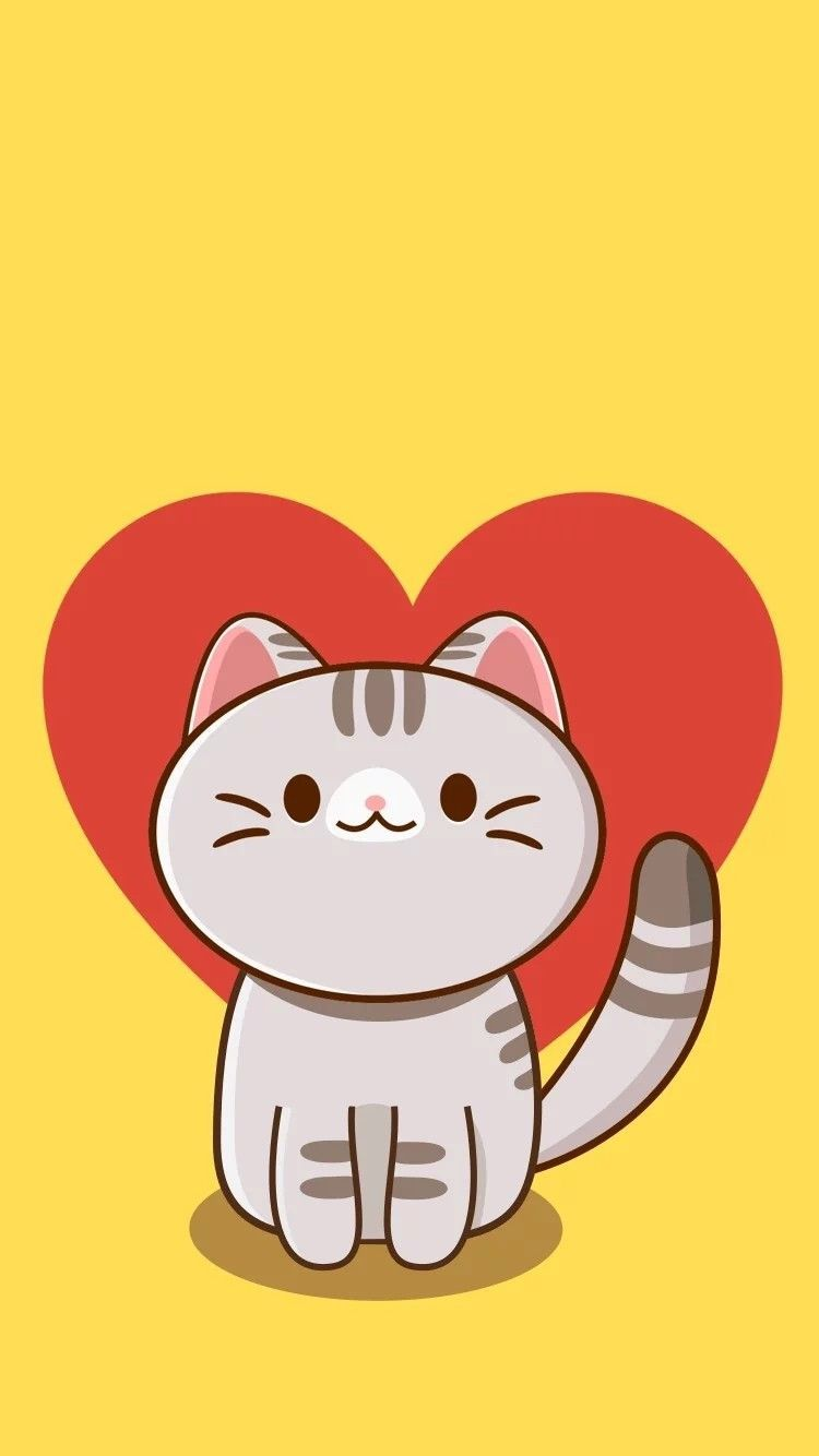 Mobile Cat Wallpapers Android Iphone Smartphone Hd Wallpapers Purrfect Love Cat Phone Wallpaper Cat Wallpaper Cute Cat Wallpaper