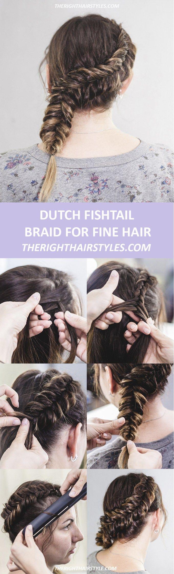How to make a dutch fishtail braid in easy steps fishtail plaits