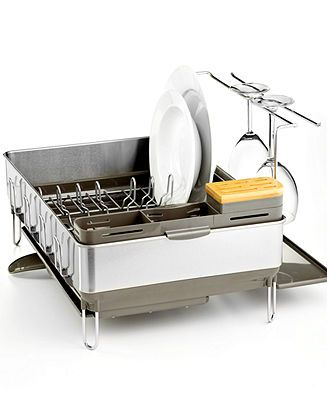 Chafing Dish Rack Impressive Simplehuman Dish Rack Steel Frame With Wine Glass Holder Decorating Design