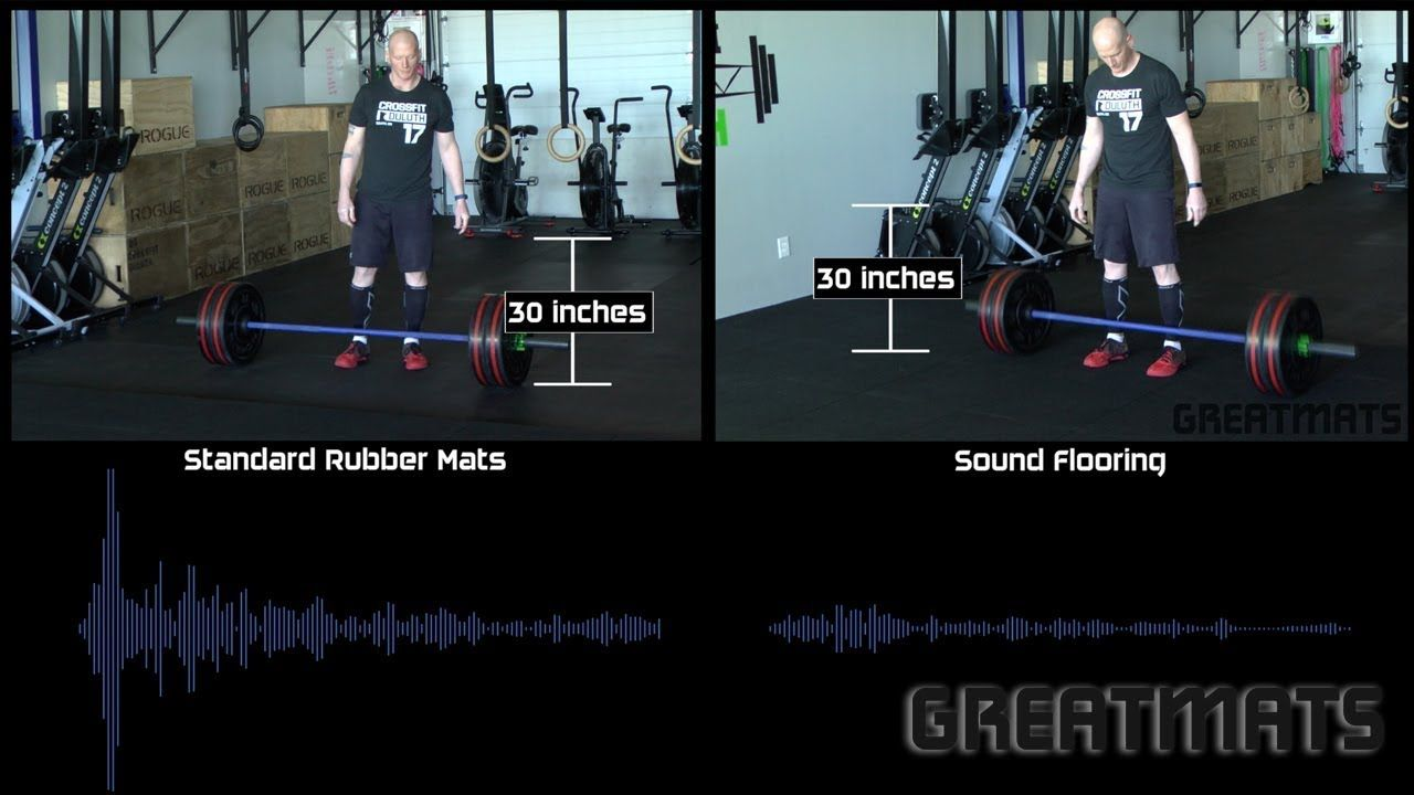 Dropping Weights Sound Comparison Gym Flooring Rubber Crossfit Flooring Crossfit Training