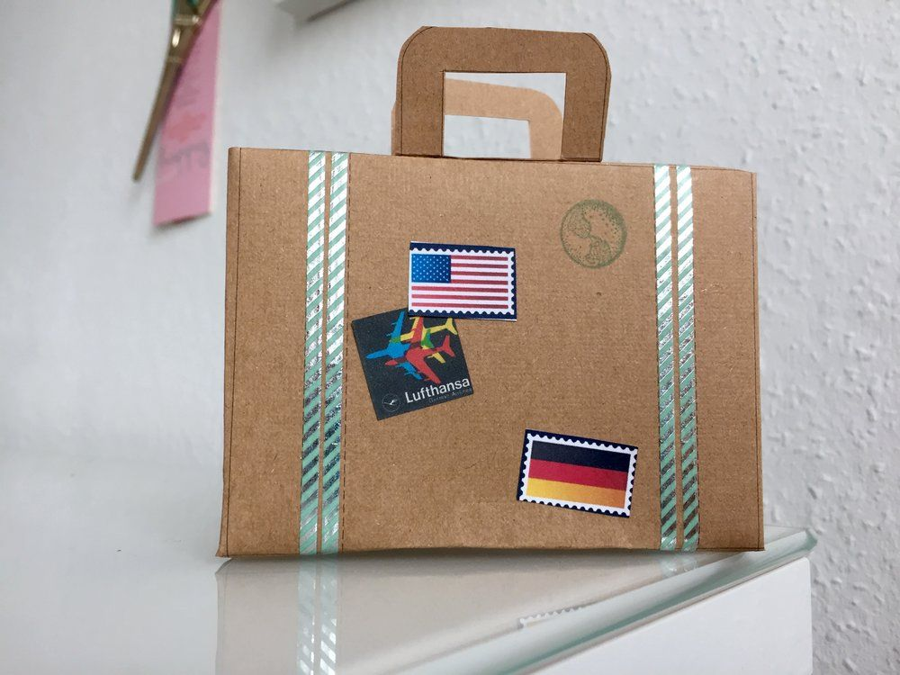 Diy Suitcase Party Favor Box Free Templates And Instructions