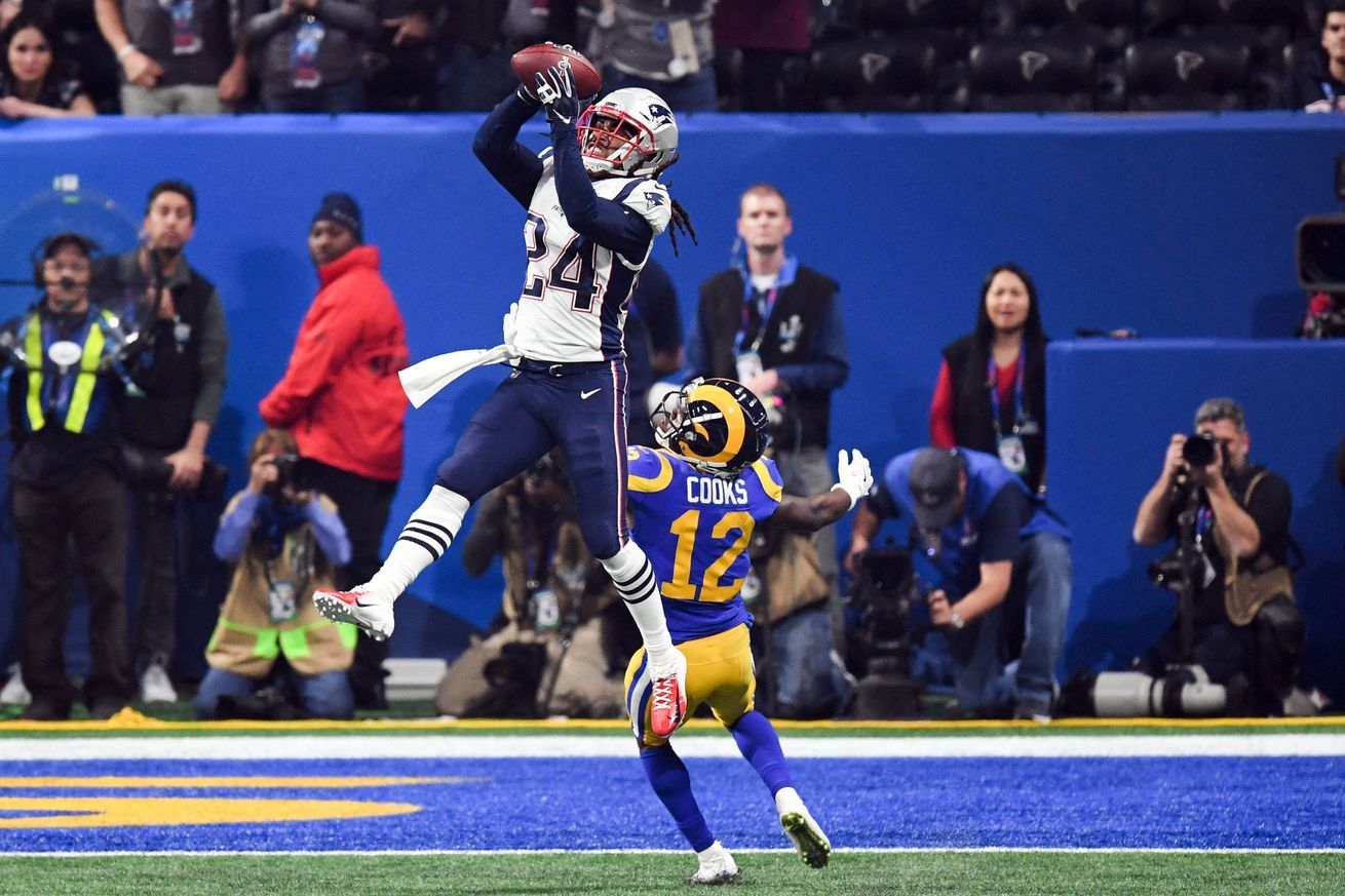Stephon Gilmore Made The Patriots Biggest Statistical Play Against The Rams Gilmore Patriots Nfl News