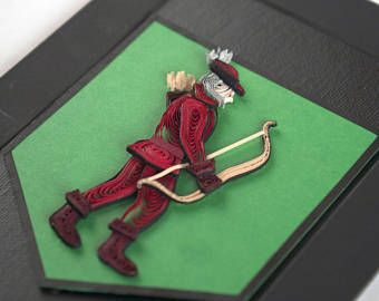 House Tarly Red Archer on Green Banner Sigil, Game of