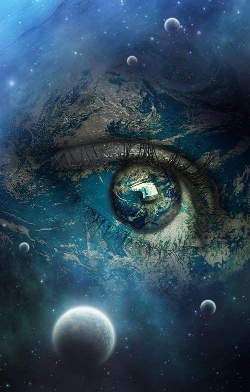 Eye In The Universe Eye Art Art Moon In Aquarius