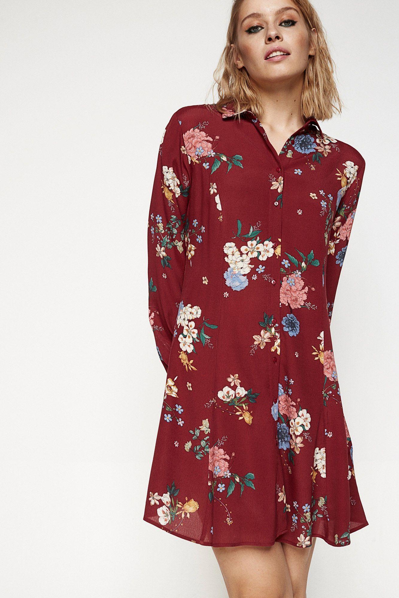 Vestidos largos flores springfield