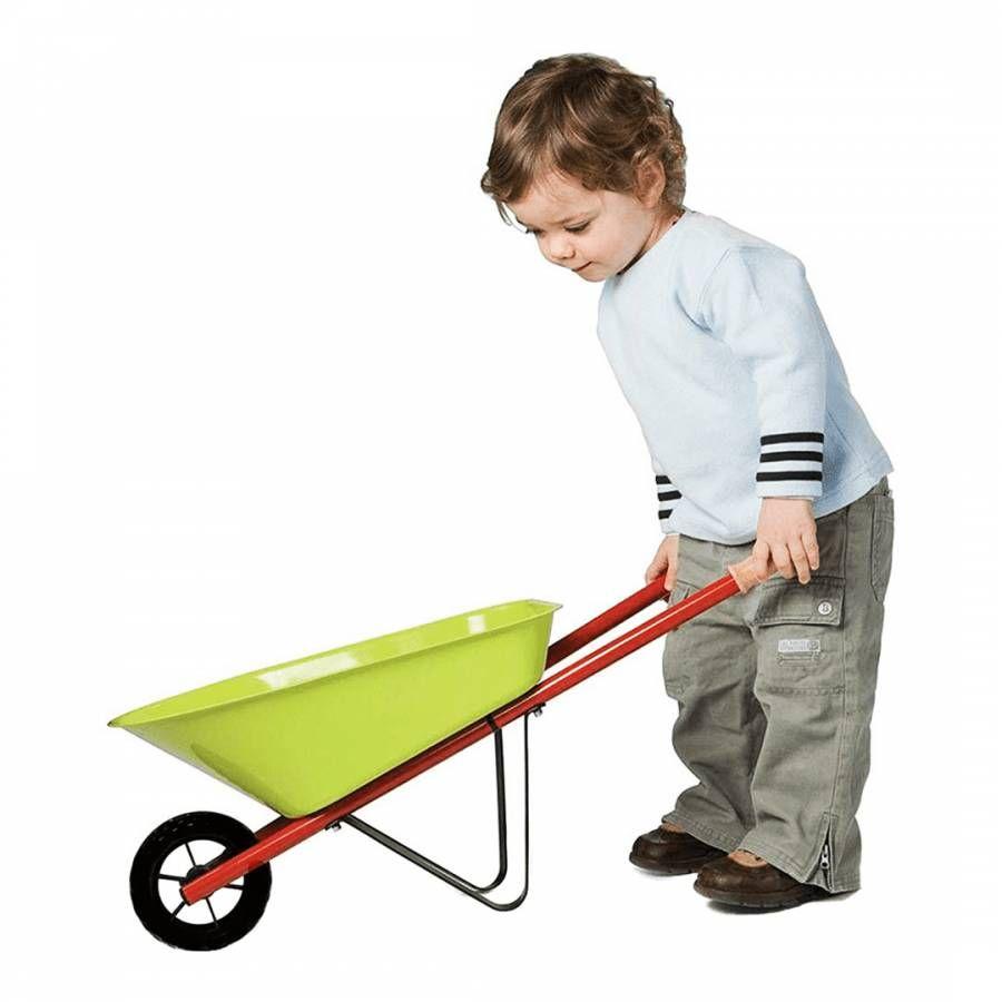 Janod Happy Garden Metal Wheelbarrow Wheelbarrow Wooden Handles Shovel