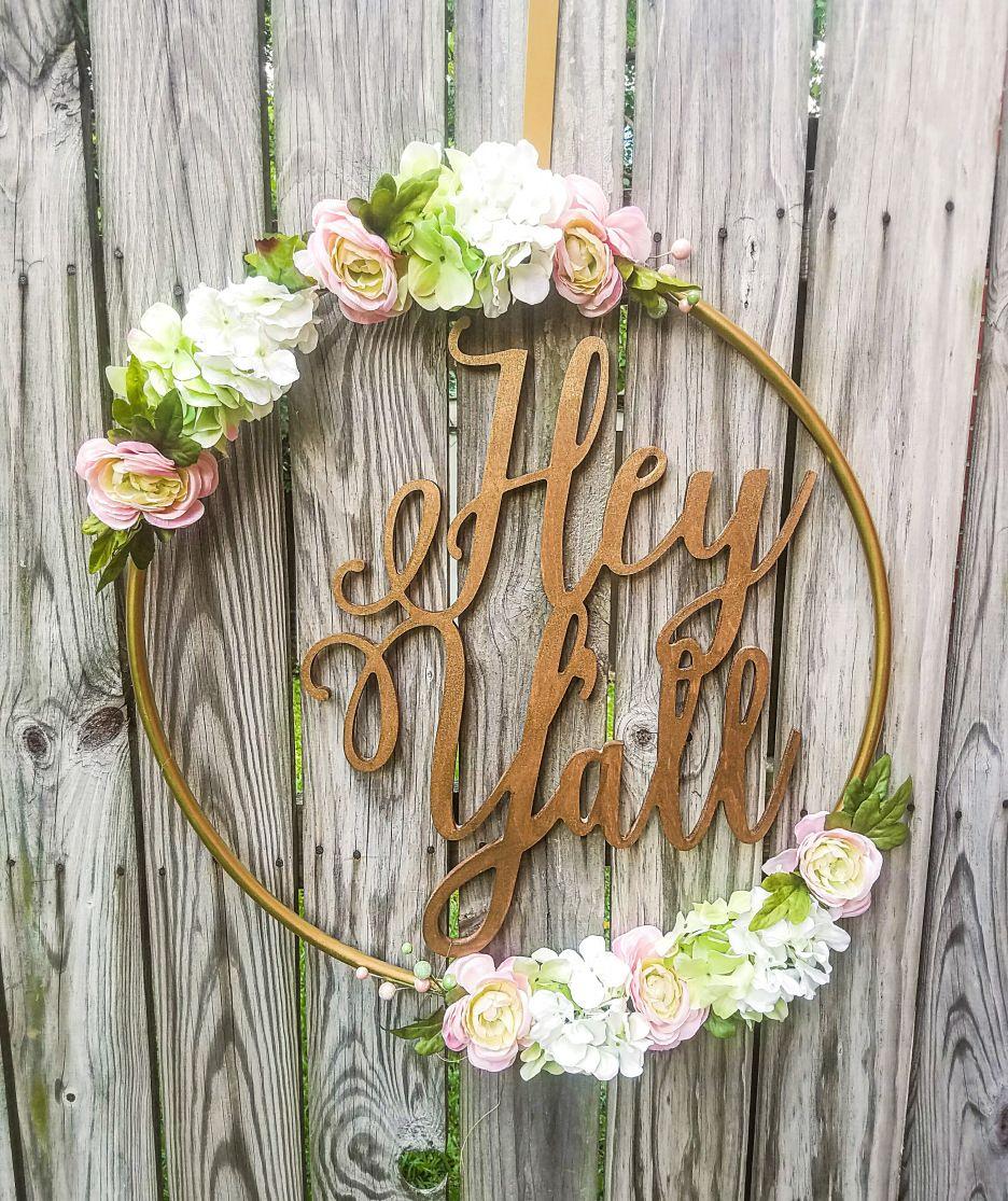 Hula Hoop, Wreaths, Floral Hoops