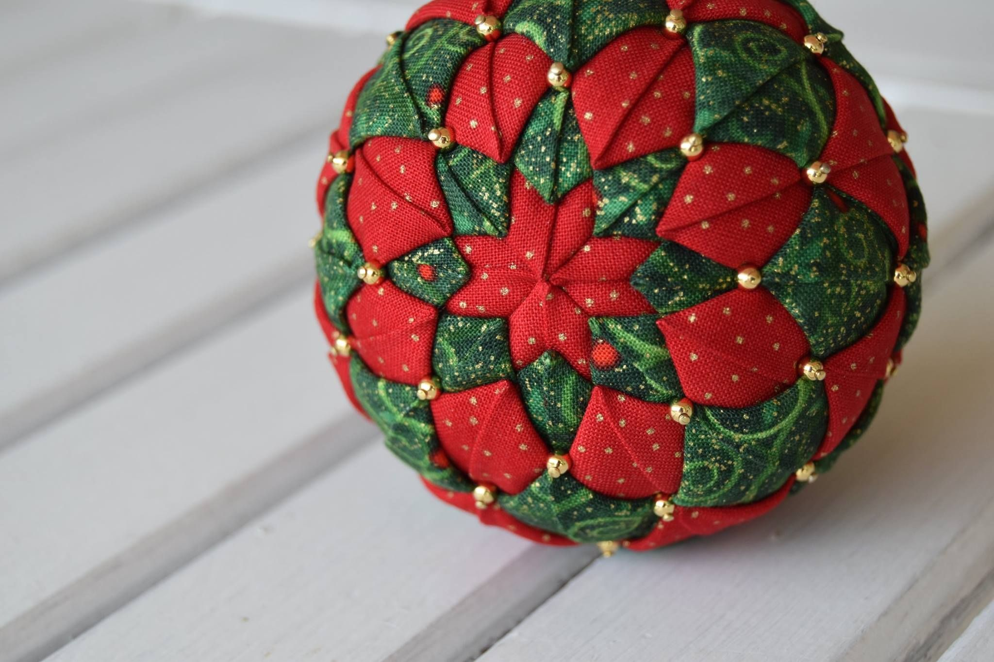 Folded Fabric Ornament Variation Fabric Christmas Ornaments Quilted Christmas Ornaments Christmas Ornaments