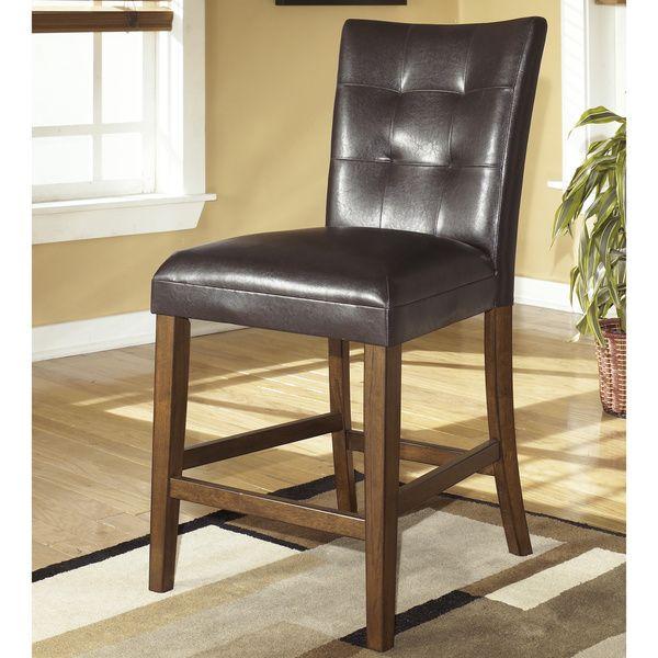 Lacey Medium Brown Upholstered Bar Stool Set Of 2 Upholstered Bar Stools Bar Furniture Home Bar Furniture