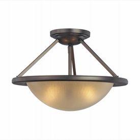LightingShowroom.com: Cimarron Dark Brushed Bronze Semi-Flush Ceiling Light, $169.00