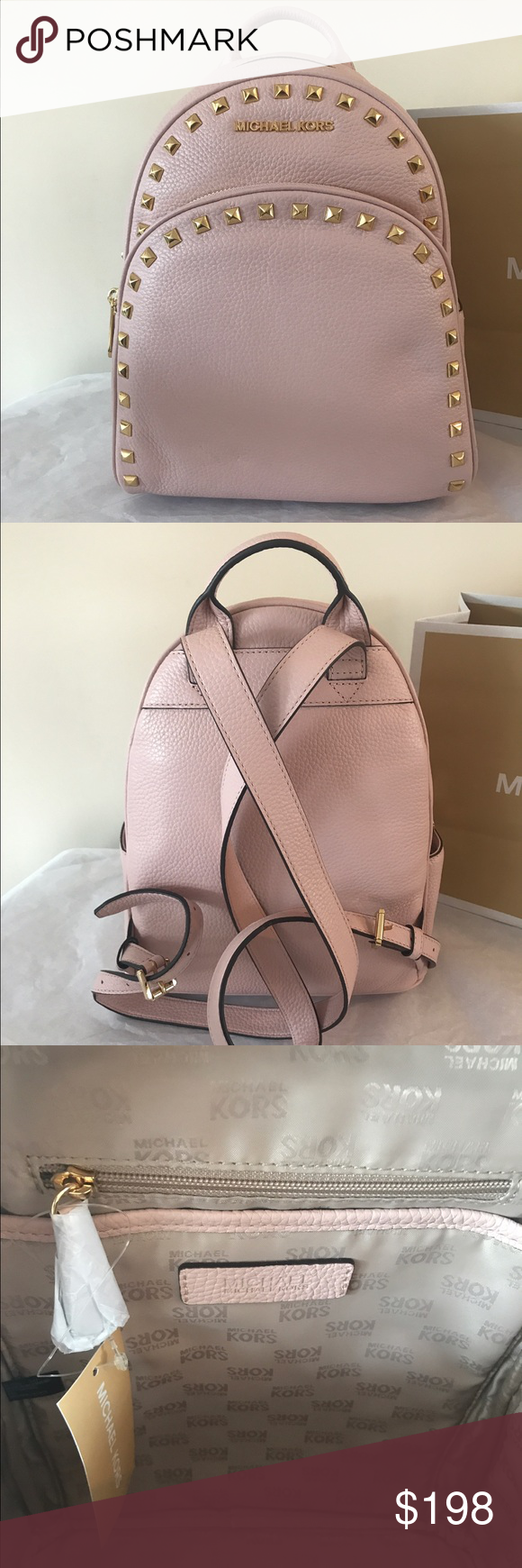 17055578ca11 Michael Kors Abbey Md Frame Out Stud Backpack New with tag Michael Kors  Abbey Medium Frame