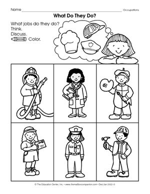 Community service coloring pages ~ Results for kindergarten worksheets | Social Studies ...