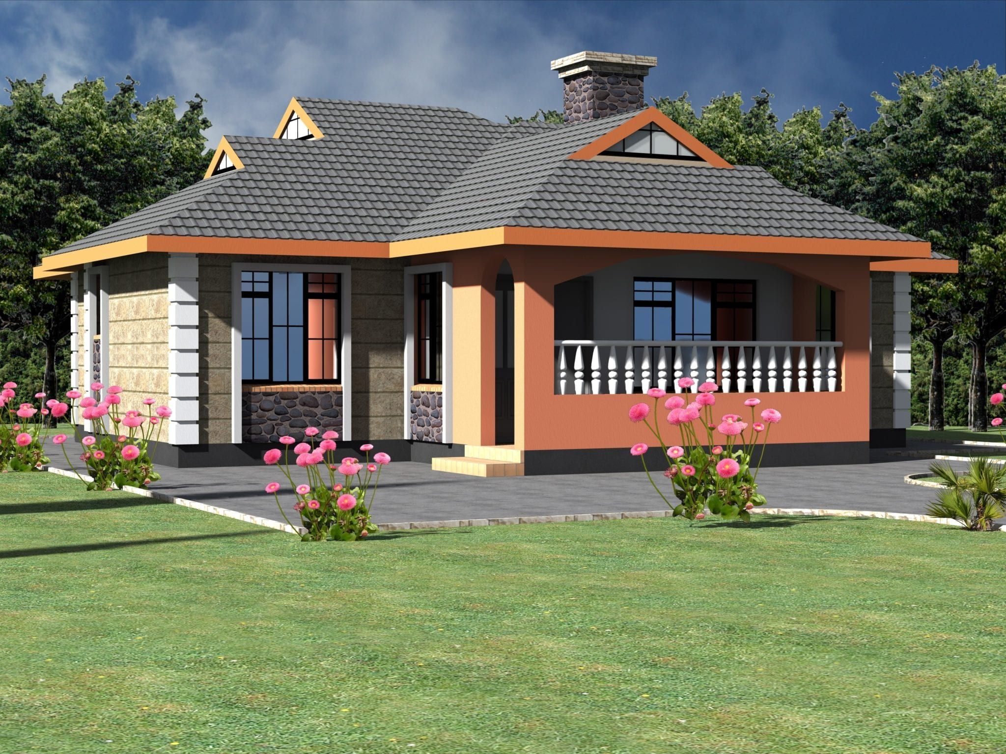 Neatly Designed Simple 3 Bedroom Bungalow House Hpd Consult Beautiful House Plans Bedroom House Plans Simple House Plans