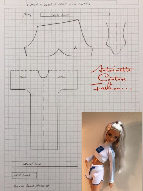 Photo of Fashion Dolls Couture – Unlimited: White&Blue Adidas Gym Outfit—Barbie made to move #dollscouture