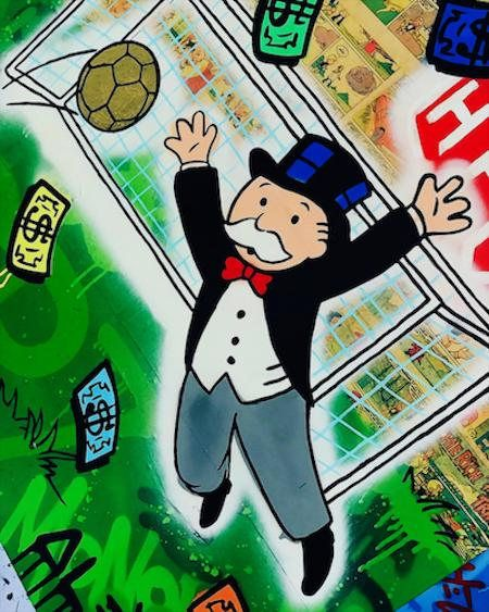 Alec Monopoly Oil Painting On Canvas Graffiti Art Wall Decor Money
