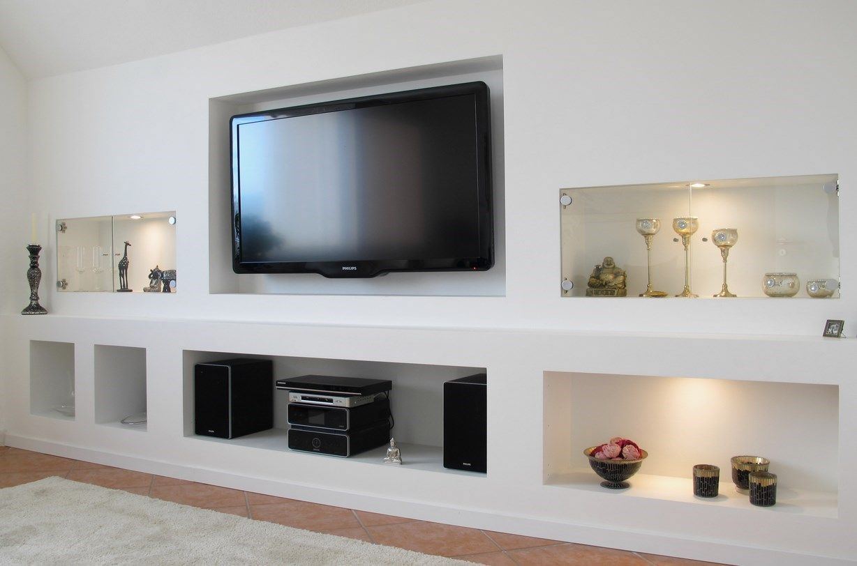 Best 25+ Meuble tv placo ideas on Pinterest  Décor de mur de tv, Salons sous -> Niche Tv Placo