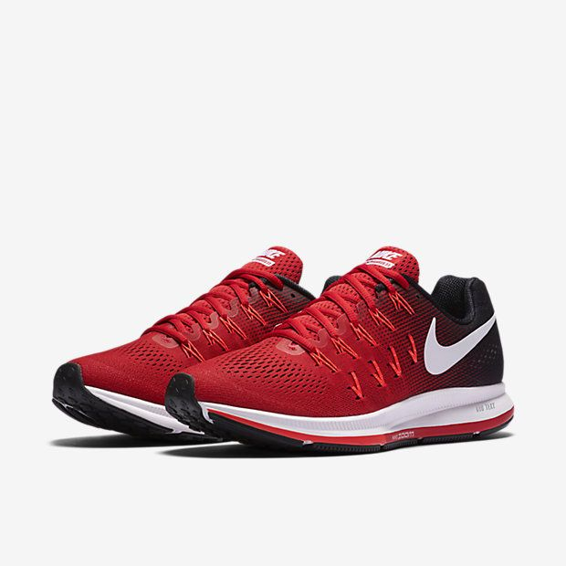 Nike Air Zoom Pegasus 33 Mens Running Shoes 10 Red White Black 831352 601