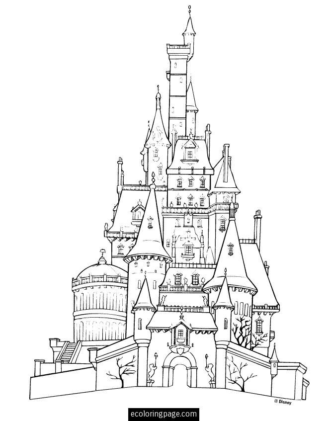disney-beauty-and-the-beast-castle-printable-coloring-page - fresh printable coloring pictures of beauty and the beast