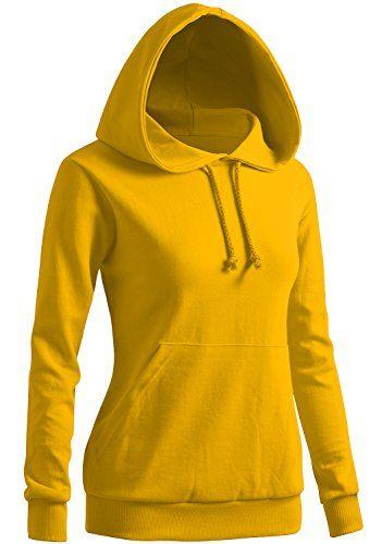9a38851493fe CLOVERY Women s Casual Hoodie Long Sleeve Hoodie YELLOW U... https ...