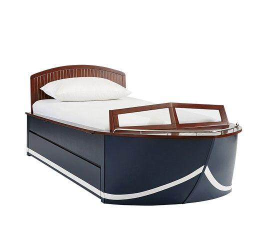Vintage Cruiser Bed Trundle Pottery Barn Kids Boat Bed Bed