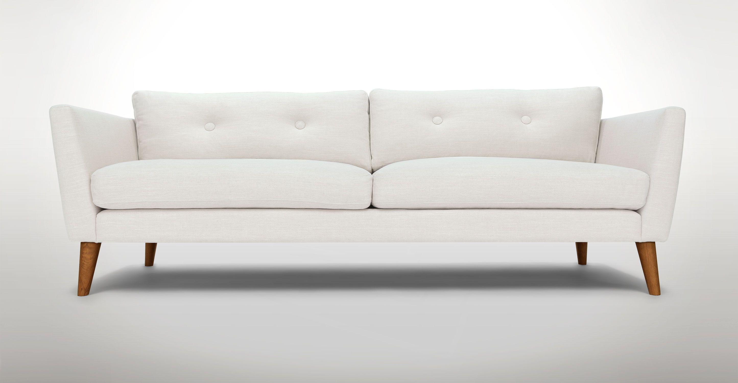 Emil Quartz White Sofa With Images