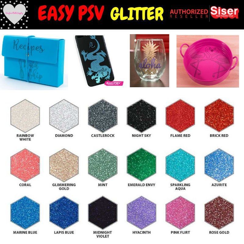 Siser Glitter Easypsv Vinyl 12 X 36 1 Yard Etsy Vinyl Signs Vinyl Decals Adhesive Vinyl