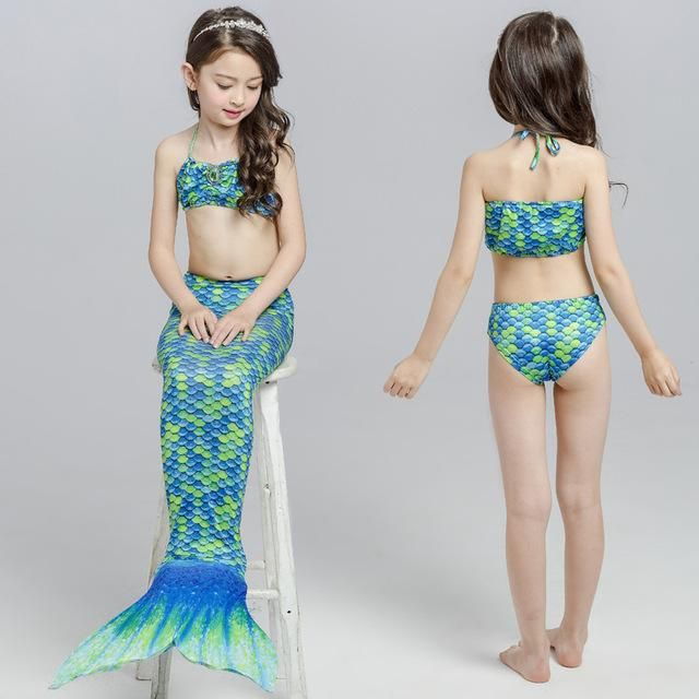Mother & Kids Kids Mermaid Swimsuit Bikini Girls Mermaid Tail With Fin Swimsuit Children Wear Split Swimsuit Mermaid Tail Clothing Swimwear
