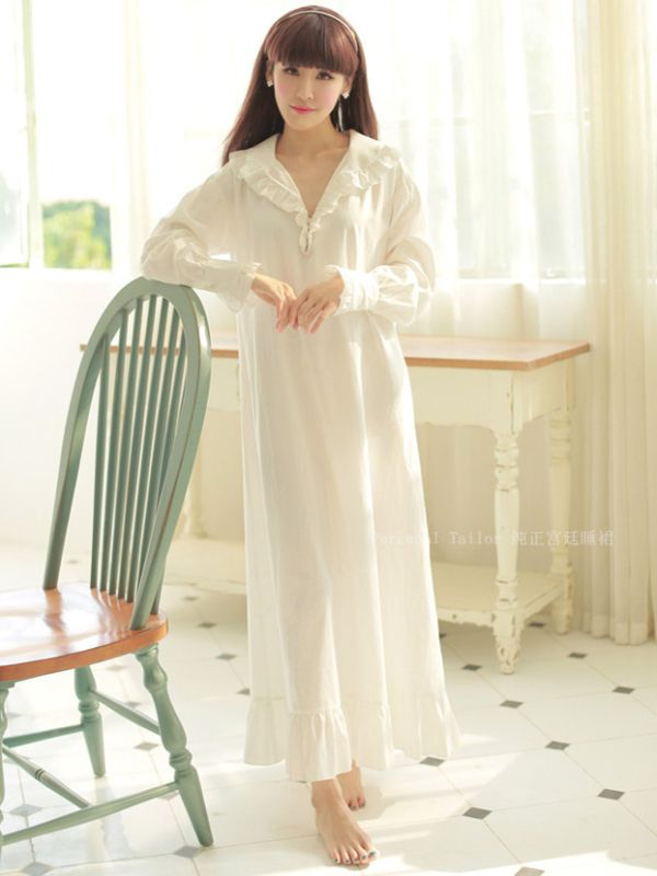 Becoming Jane Vintage White Cotton Night Gown | одежда | Pinterest ...