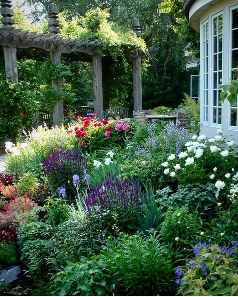 Cottage Flower Gardens: Stately Living Areas Amidst The Bountiful Blooms