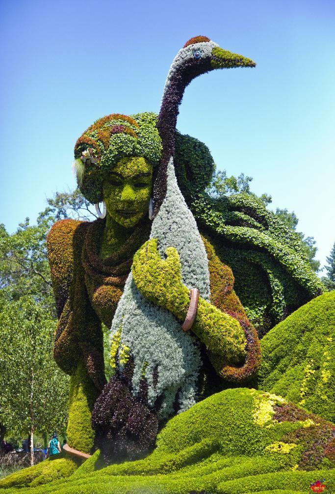 Superb Wonderful Plant Sculptures At Montreal Botanical Garden