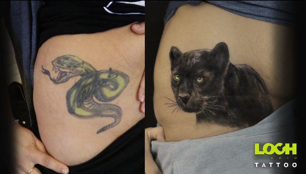 Cover:)  Stary tatuaż najlepiej zakryć czymś czarnym? Czarną Panterą!! :) Zapraszam do zapisów:)  tel. 508 273 224 lub e-mail.studio@lochtattoo.com #tatuaż #lochstudiotatuażu #studio_tatuażu_warszawa #mokotów #loch_tattoo #salon_tatuażu #tatuażartystyczny #cover #covertatuaż #panteratatuaż #panteracover #czarnapantera #panteratattoo #coverpanteratattoo #tauażnabrzuchu #cover #panthertattoo #panthertattoocover #snake #snaketattoo #piekałkiewicza4 #studiotatuażu #lochtattoocom