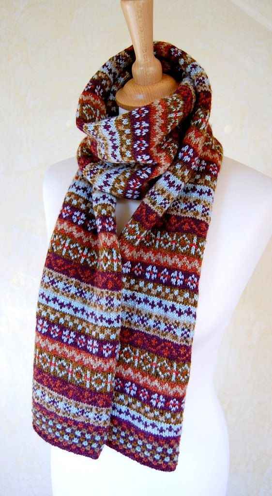 Fair Isle Scarf Reserved Listing for Jacky by helengraydesigns ...