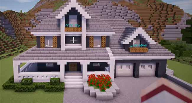 10 Cool Minecraft Houses To Build In Survival Enderchest Cool Minecraft Houses Minecraft Mansion Minecraft House Tutorials