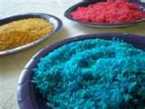 Colored Rice Mosaics- using glue, create a design on paper then add colored rice to create an image