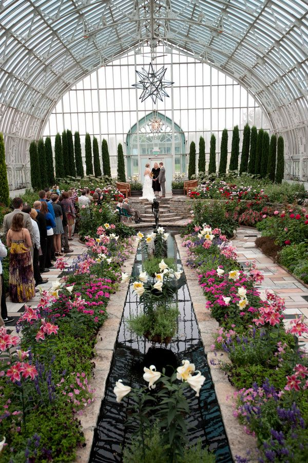 sunken garden como park zoo conservatory intimate wedding