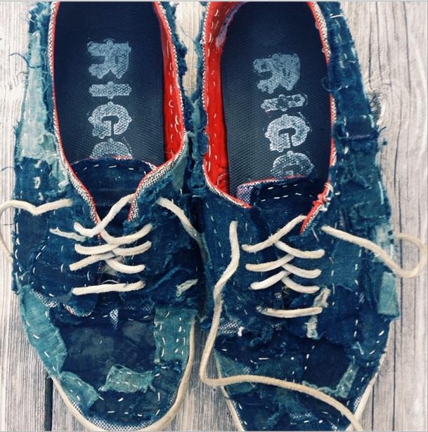 Rigg custom Boro sneakers