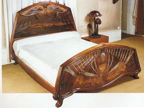 Emile Galle Butterfly bed   Art Nouveau   Pinterest   Jugendstil ...