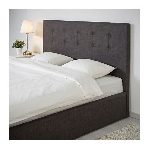 gvarv bettgestell mit aufbewahrung skiftebo grau in 2019 living pinterest ikea bed bed. Black Bedroom Furniture Sets. Home Design Ideas