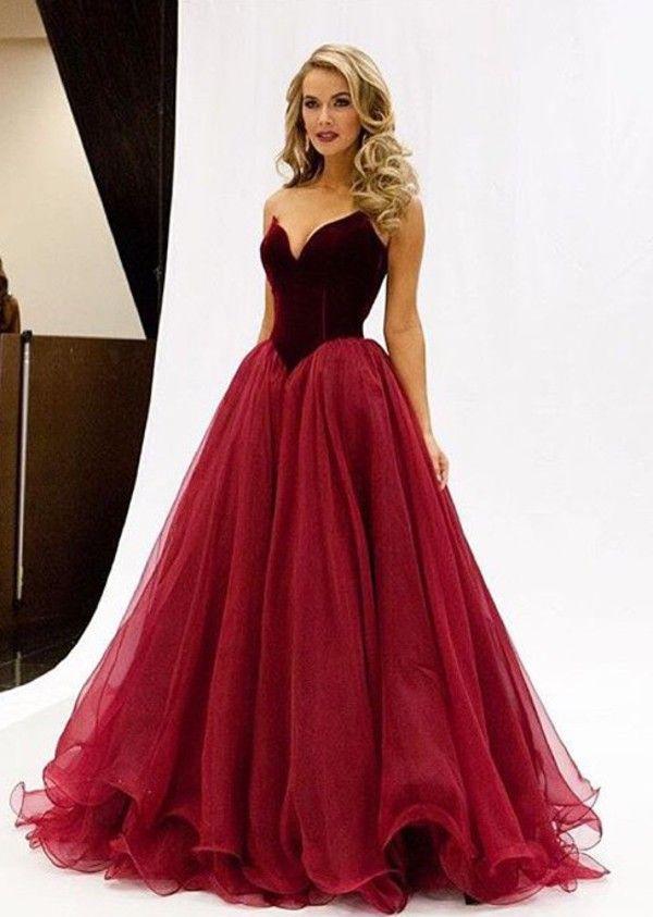 Aliexpress Buy New Fashion V Neck Burgundy Prom Dresses 2016